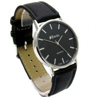 Ravel Mens Classic Quartz Watch Black  Strap Black Face R0129.03.1